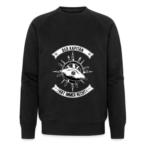 Der Kapitän hat immer Recht Seefahrer Sprüche - Männer Bio-Sweatshirt von Stanley & Stella