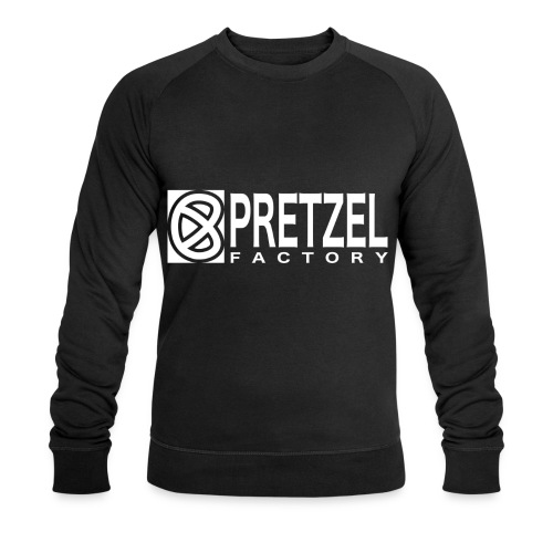 Pretzel Factory Logo Blanc - Sweat-shirt bio