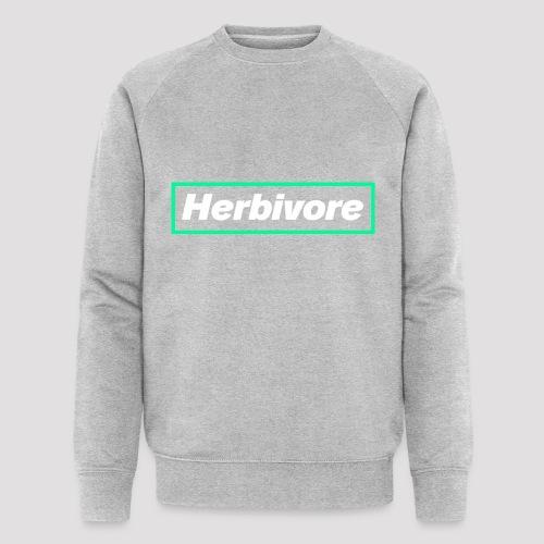 Herbivore Logo White - Felpa ecologica da uomo