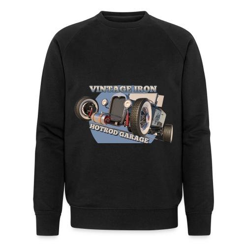 hot rod garage   vintage iron - Männer Bio-Sweatshirt