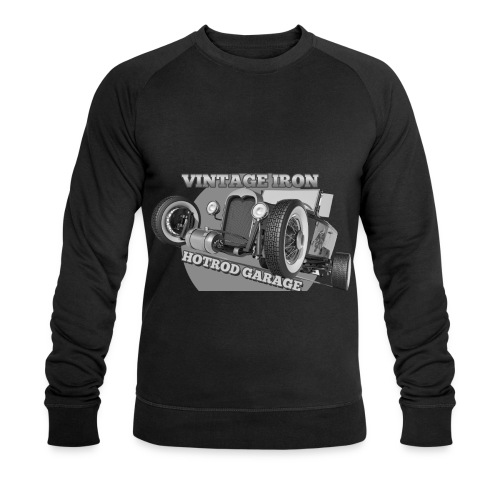 hotrod vintage grau - Männer Bio-Sweatshirt
