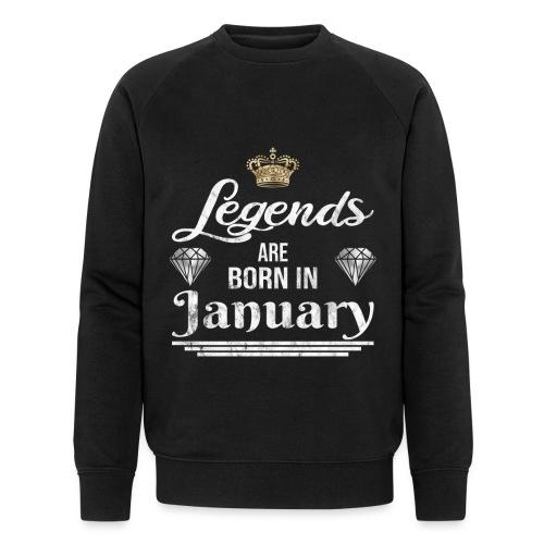 Legends are born in January Geburtstag im Januar - Männer Bio-Sweatshirt von Stanley & Stella
