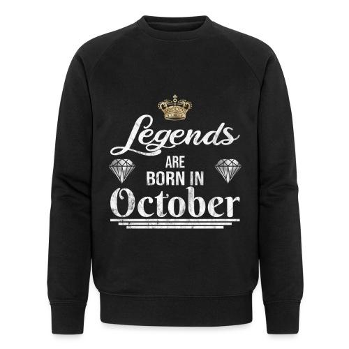 Legends are born in October Geburtstag im Oktober - Männer Bio-Sweatshirt von Stanley & Stella