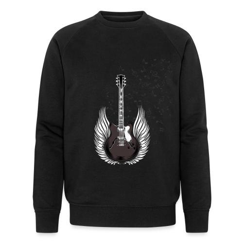 Gitarre mit Flügeln und Noten Musiker Geschenkidee - Männer Bio-Sweatshirt von Stanley & Stella