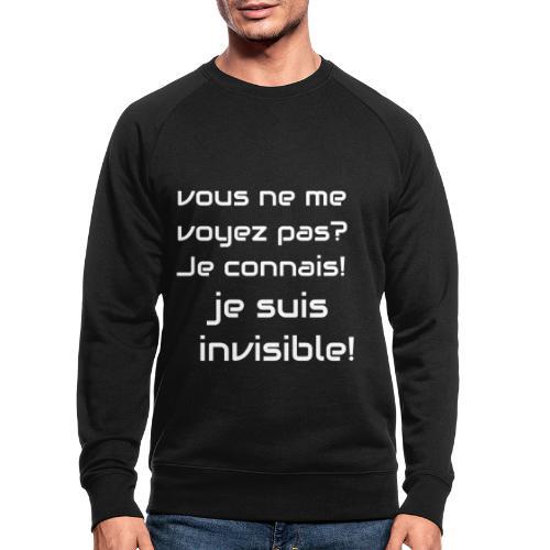 Invisibile #invisibile - Felpa ecologica da uomo di Stanley & Stella