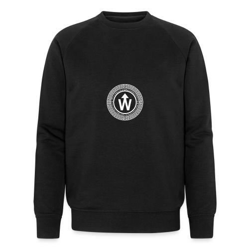 wit logo transparante achtergrond - Mannen bio sweatshirt