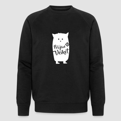 Veikko-pöllö valkoinen - Miesten luomucollegepaita