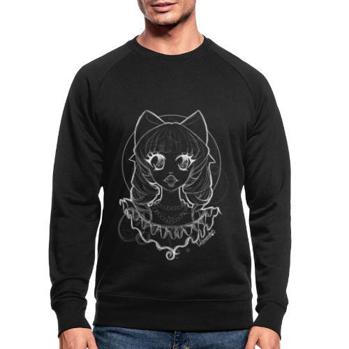 Vampier Lena (witte schets) - Men's Organic Sweatshirt