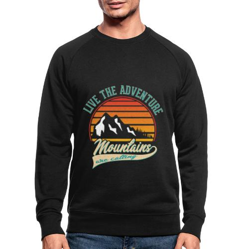 Live The Adventure Mountains are calling - Outdoor - Männer Bio-Sweatshirt