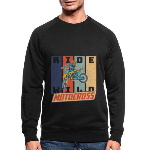 Motocross Ride Wild Vintage Enduro Geschenk - Männer Bio-Sweatshirt