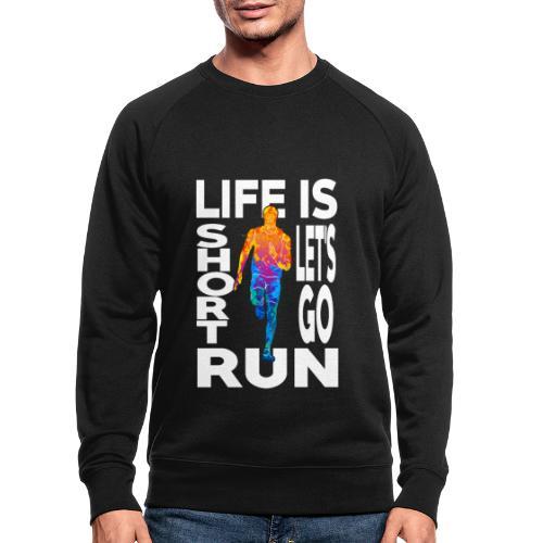 Laufsport Marathon Jogging Geschenkideen - Männer Bio-Sweatshirt
