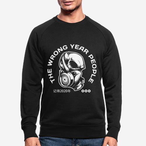 falsche Jahr 2020 Covid Maske - Männer Bio-Sweatshirt