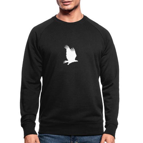 Tirolerbergluft pur (großer Adler) - Männer Bio-Sweatshirt