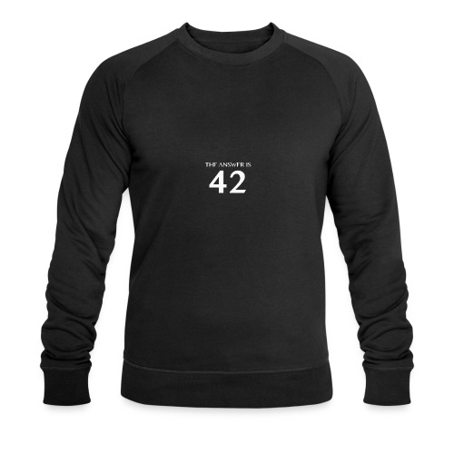 The Answer is 42 White - Men's Organic Sweatshirt by Stanley & Stella