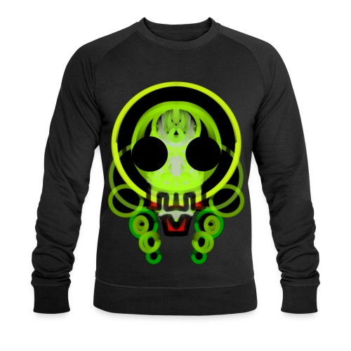dead skull of loops of green light - Men's Organic Sweatshirt by Stanley & Stella