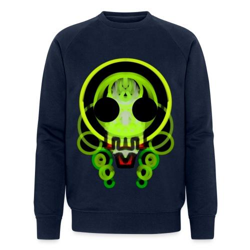 dead skull of loops of green light - Men's Organic Sweatshirt by Stanley & Stella