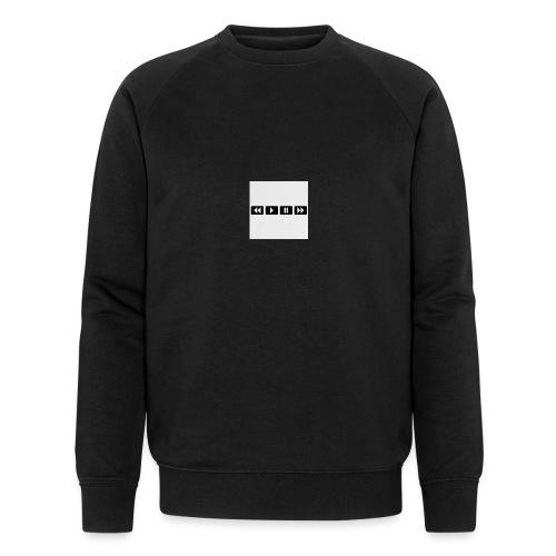 black-rewind-play-pause-forward-t-shirts_design - Mannen bio sweatshirt van Stanley & Stella