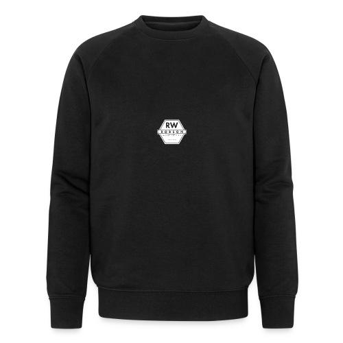 RW Logo In White - Men's Organic Sweatshirt by Stanley & Stella