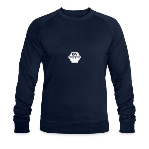 RW Logo In White - Men's Organic Sweatshirt by Stanley & Stella