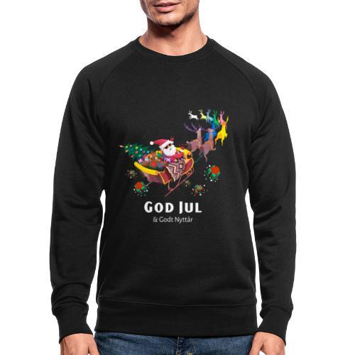 god jul og godt nyttår - Økologisk sweatshirt for menn