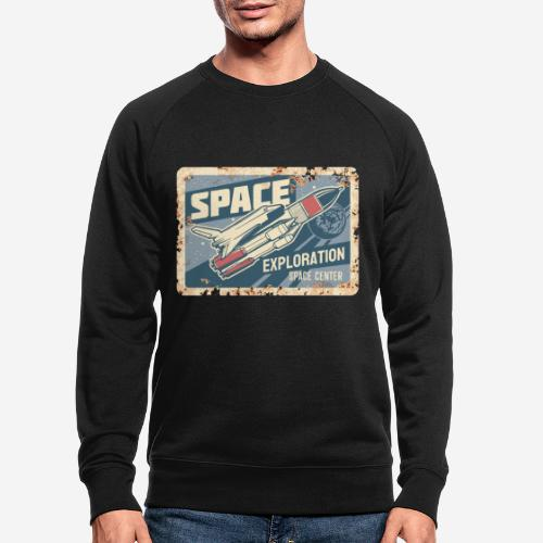space ship explorer - Männer Bio-Sweatshirt
