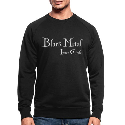 Black Metal Inner Circle, white - Men's Organic Sweatshirt