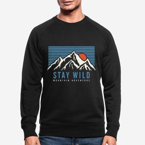 Berg bleiben wild - Männer Bio-Sweatshirt