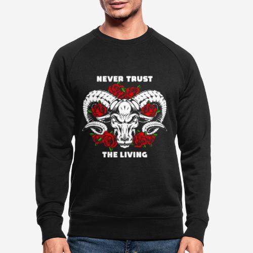 roses skull bull - Männer Bio-Sweatshirt