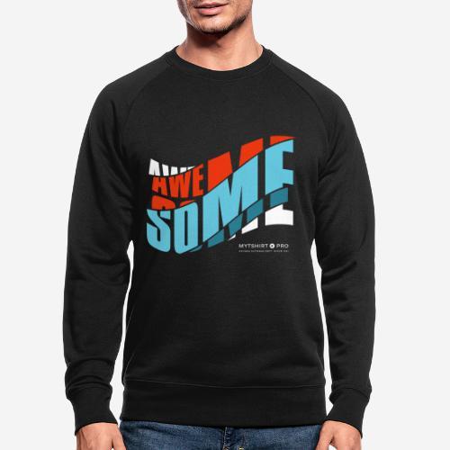 fantastische T-Shirt Design Diagonale - Männer Bio-Sweatshirt