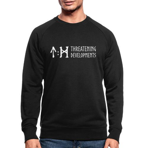 Threatening Developments White Logo - Men's Organic Sweatshirt