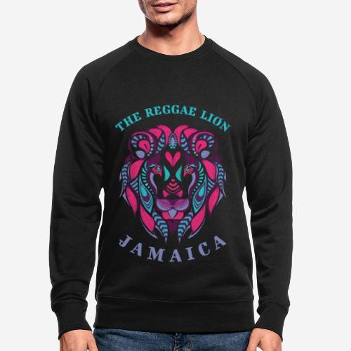 reggae lion jamaica - Männer Bio-Sweatshirt