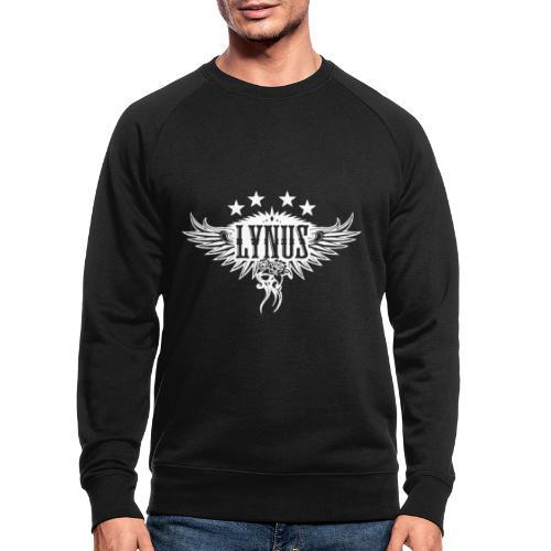 Large Lynus logo White - Men's Organic Sweatshirt