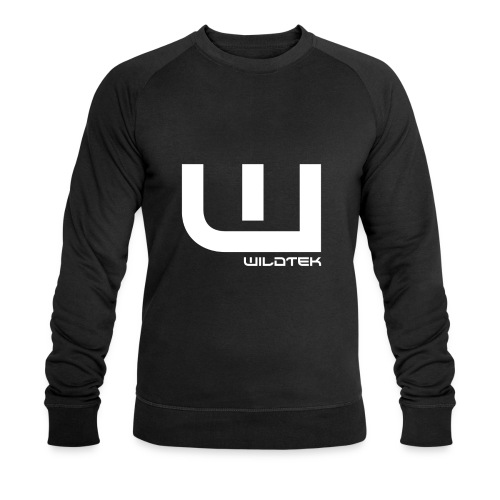 Wildtek Logo White - Men's Organic Sweatshirt