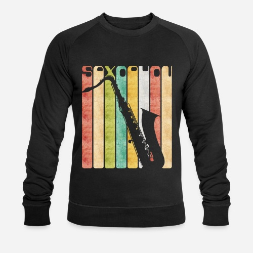 Retro Saxophon - Männer Bio-Sweatshirt von Stanley & Stella