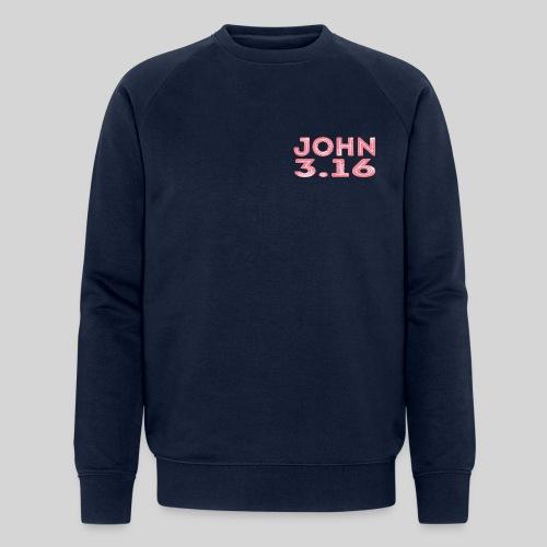 Johannes 3 Vers 16 Bibelversdesign - Männer Bio-Sweatshirt von Stanley & Stella
