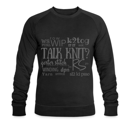 Talk Knit ?, gray - Men's Organic Sweatshirt by Stanley & Stella