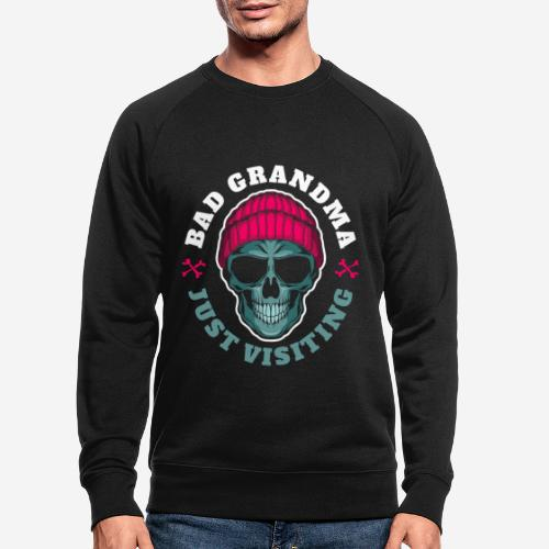 bad grandma grandmother - Männer Bio-Sweatshirt