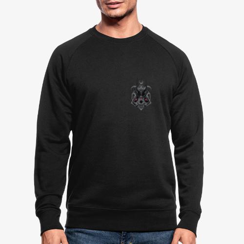 Fox Skull Demonlord - wh Logo - Männer Bio-Sweatshirt