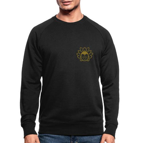 Boeddha hoofd blad - Mannen bio sweatshirt