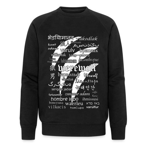 Werewolf in 33 Languages (Black Ver.) - Men's Organic Sweatshirt by Stanley & Stella