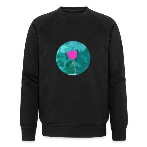 Flower power - Mannen bio sweatshirt
