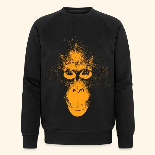 Orang-Utan Gesicht orange - Männer Bio-Sweatshirt von Stanley & Stella