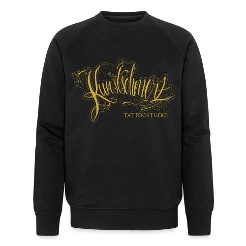 Kunstschmerz Logo Schrift gold - Männer Bio-Sweatshirt von Stanley & Stella