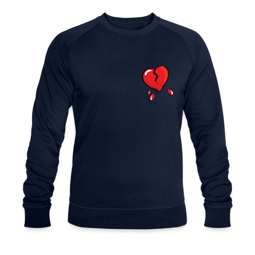 Broken Heart - Men's Organic Sweatshirt by Stanley & Stella