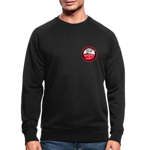 Emblemat Pracuje zdalnie - Akademia Wywiadu™ - Ekologiczna bluza męska