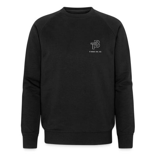 tinius-bil-logo_white - Økologisk sweatshirt for menn