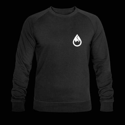 WS-Crew Tropfen-Logo weiß - Männer Bio-Sweatshirt von Stanley & Stella