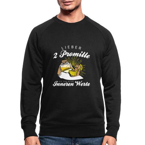 Lustiger Spruch - Lieber 2 Promille - Männer Bio-Sweatshirt von Stanley & Stella