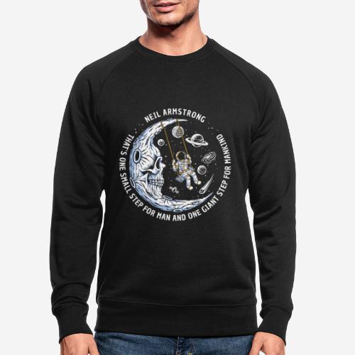 moon astronaut stars space - Männer Bio-Sweatshirt