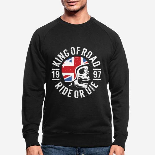 biker rider skull - Männer Bio-Sweatshirt